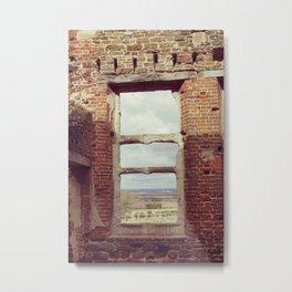 Mansion Window Metal Print