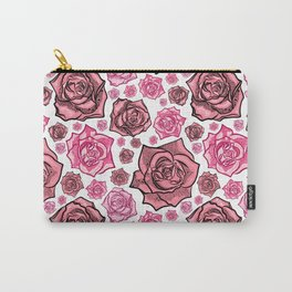 Beautiful Rose Pattern Carry-All Pouch