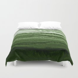 WITHIN THE TIDES FOREST GREEN by Monika Strigel Duvet Cover