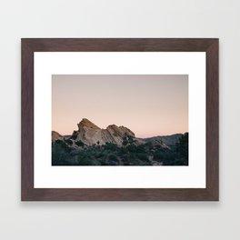 Sunset Over Desert Vasquez Rocks Framed Art Print