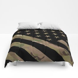 U.S. Flag: Military Camouflage Comforters