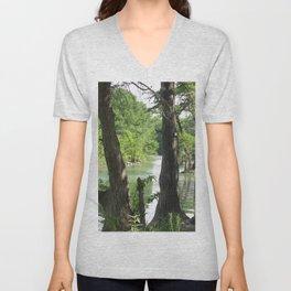 Waterside Trees Unisex V-Neck