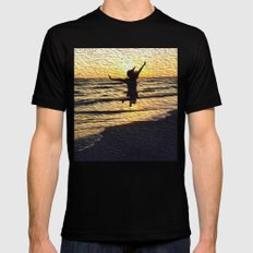 jump and be free #society6 Black MEDIUM Mens Fitted Tee