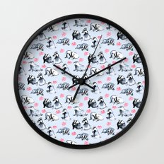 Badgers Wall Clock