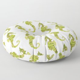 Seahorse – Lime & Gold Floor Pillow