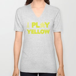 Show Your Game Color - Yellow Unisex V-Neck