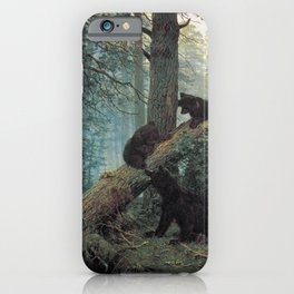 Shishkin Ivan Morning in a Pine Forest. iPhone Case
