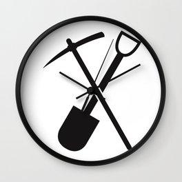 shovel and pickaxe Wall Clock