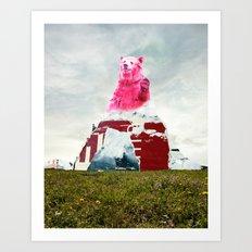 Bear Salute Art Print