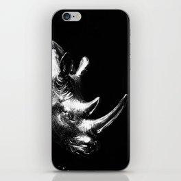 A Silver Rhino iPhone Skin