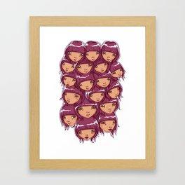 through the grape vine Framed Art Print