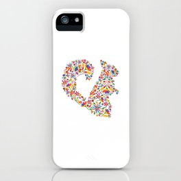 Squirrel Otomi Flowers Rodent Gift iPhone Case