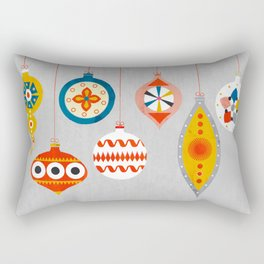 Christmas retro baubles no3 Rectangular Pillow