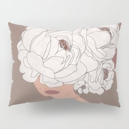 Woman with Peonies Pillow Sham