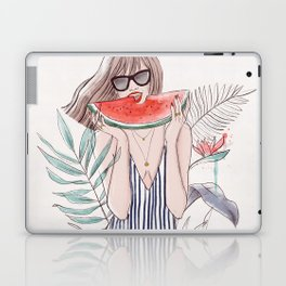 Watermelon girl Laptop & iPad Skin