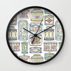 Tea Tins Wall Clock