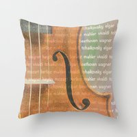 violin Throw Pillows featuring Violin by Imagology
