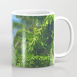 St Lucia View to Sailboat at Sea Coffee Mug