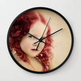 Mila as a Vintage Rose Wall Clock