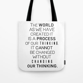 Einstein's quote Tote Bag