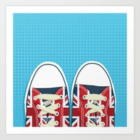 british Art Prints featuring Casual British by Matt Andrews