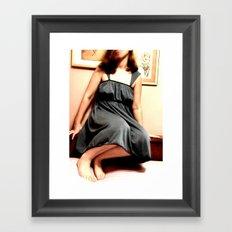 Uncomfortable Framed Art Print