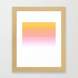 Gold with pink lines Framed Art Print