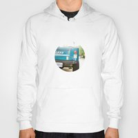 jeep Hoodies featuring Jeep Scrambler Summer by Leslee Mitchell