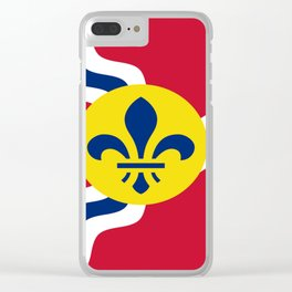 Flag of Saint Louis Clear iPhone Case
