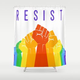 Resist (Pride) Shower Curtain