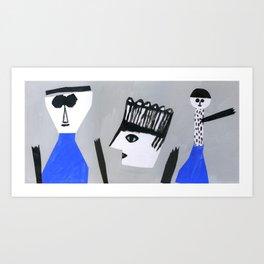 Strange groove Art Print