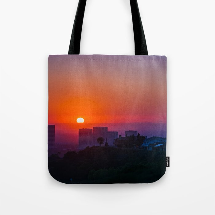 Newport Center Sunset Tote Bag