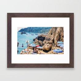 Capri beachgoers Framed Art Print