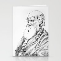 darwin Stationery Cards featuring Charles Darwin by Noelle Fontaine