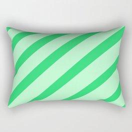 Leaf Stripes Rectangular Pillow