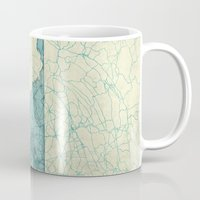 maryland Mugs featuring Maryland State Map Blue Vintage by City Art Posters