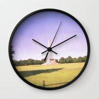 dublin Wall Clocks featuring Dublin Skies by jonnykam