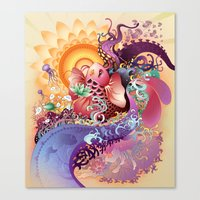 koi Canvas Prints featuring Koi by Nick La