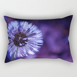 Violet Dandelion Rectangular Pillow