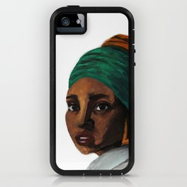 The Girl with the Doorknockers iPhone Case