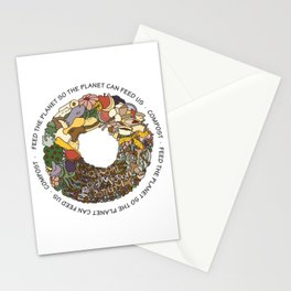 Feed the Planet Composting Wheel Stationery Cards