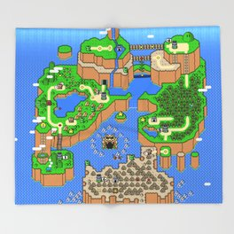 The World of Super Mario Throw Blanket