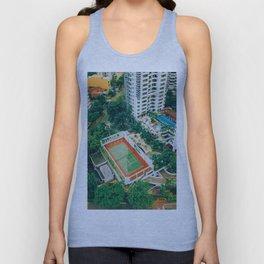 Tennis Court City View (Color) Unisex Tank Top