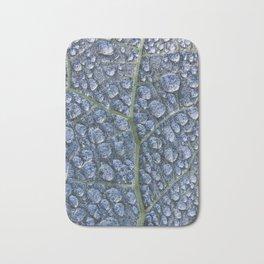 Cool water drops dew texture leaf Bath Mat