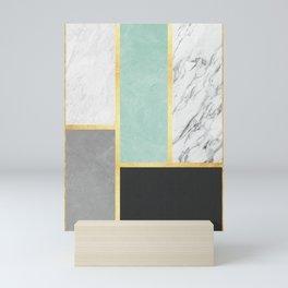 Golden polygon XVI Mini Art Print