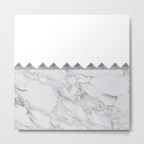 Adoring Grey Metal Print