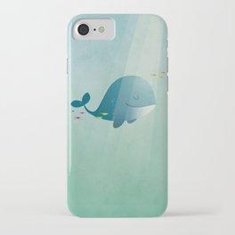 Whale print iPhone Case