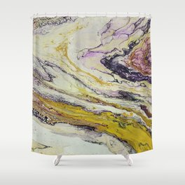 Planet of reptiles, abstract, acrylic on canvas Shower Curtain