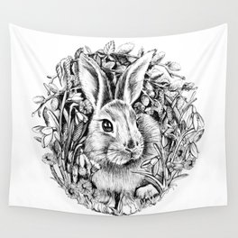 """Spring rabbit. From the series """"Seasons"""" Wall Tapestry"""
