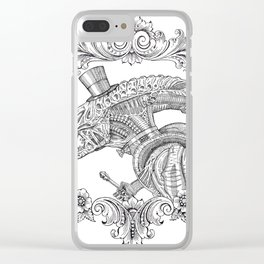 Fancy Xenomorph Clear iPhone Case